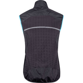 UYN Running Activyon OW Melange Wind Vest Women, anthracite melange/turquoise/sugar coral